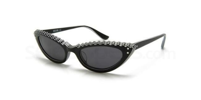 Moschino black cat-eye sunglasses