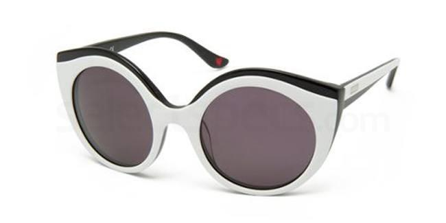 white sunglasses cat eye shared Moschino