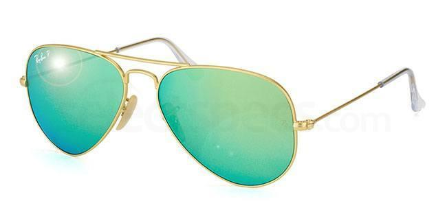 Ray-Ban-Gold-and-Green-Mirrored-Polarized-Sunglasses