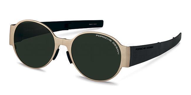 green gold Porsche sunglasses