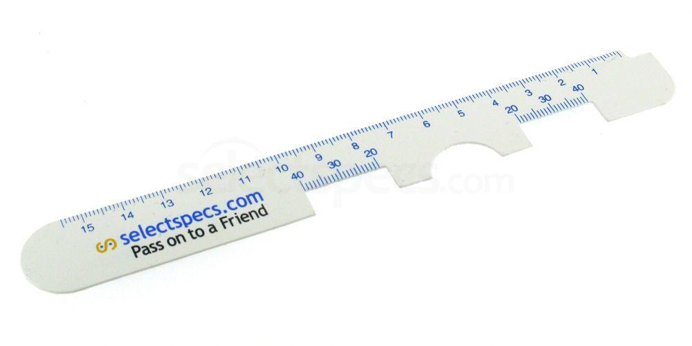 Pupillary measurement ruler online