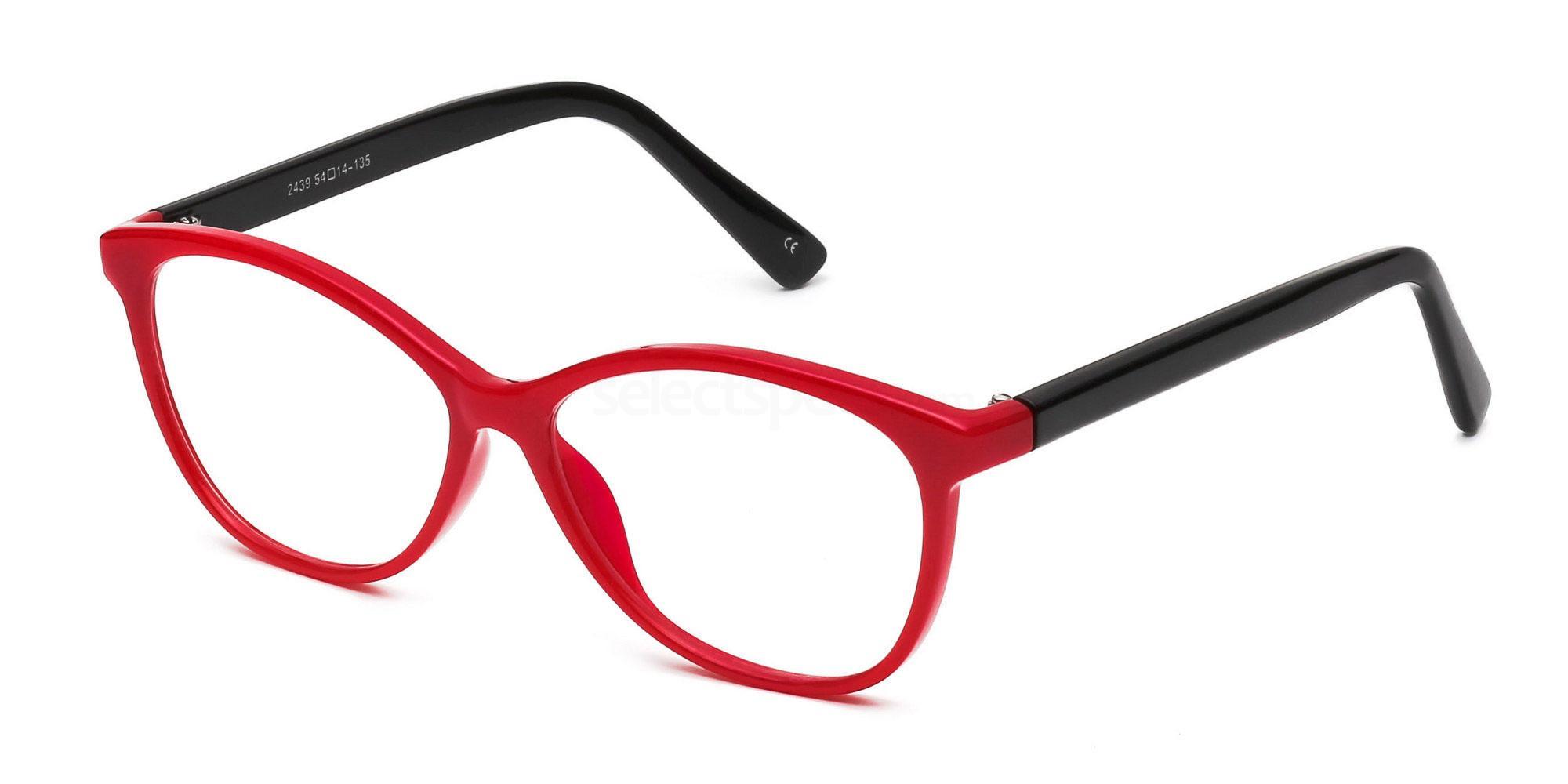 Savannah 2439 Red & Black Selectspecs.com