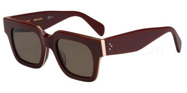 celine sunglasses burgundy