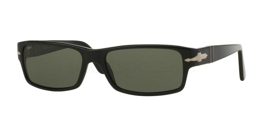 squared black sunglasses persol