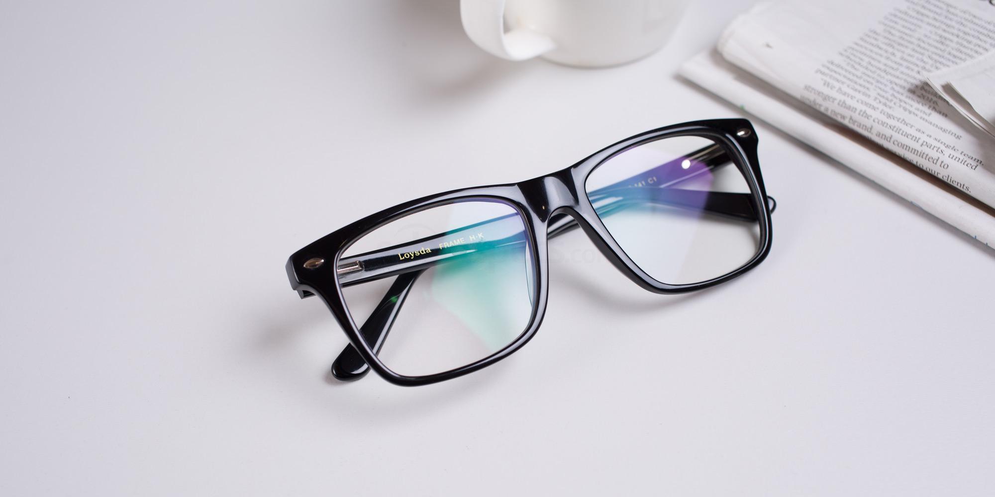 Hallmark-8812-black-thick-square-prescription-glasses