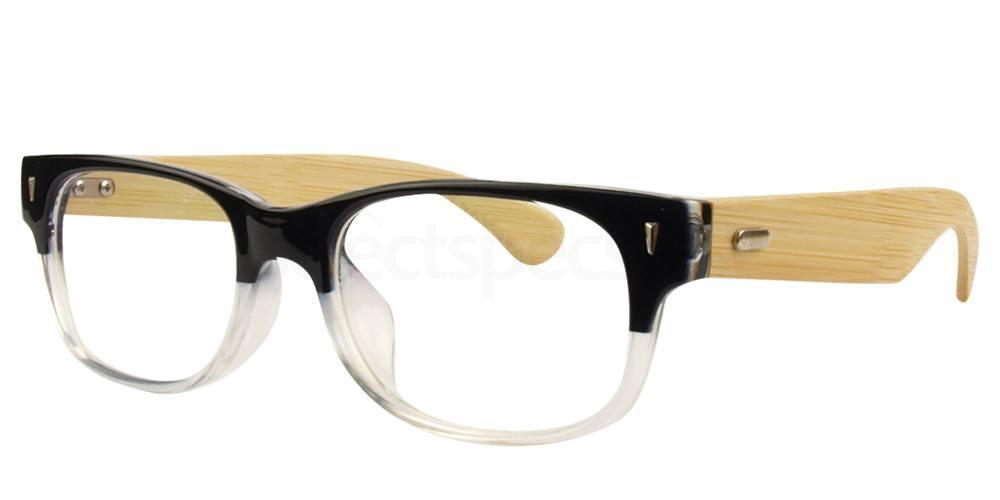 Hallmark Bamboo and Clear Prescription Glasses at SelectSpecs