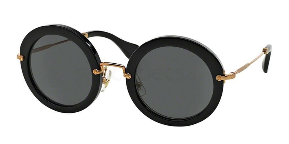 black round oval shaped sunglasses