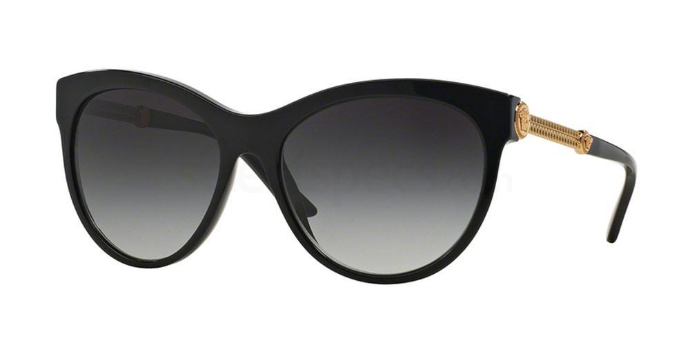 Versace black glasses Anna dello russo inspo during fashion weekss16