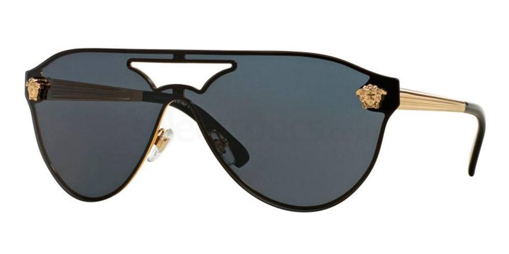 Versace gold details aviator salma hayek sunglasses