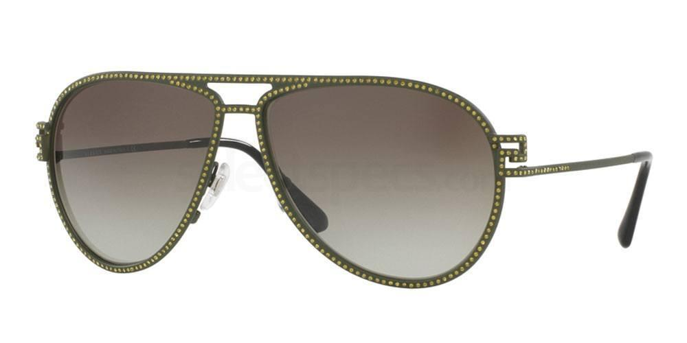 olive green sunglasses versace