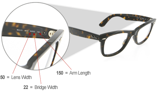 ray ban clubmaster frame sizes