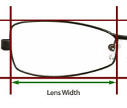 Size Guide - Lens Width Measure