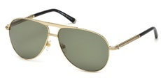 28R shiny rose gold / green polarized