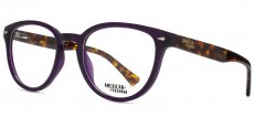 PUR Retro round in crystal purple with a tortoiseshell interior