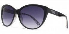 AFS019 Black with a white patterned interior and smoke grad lenses