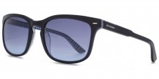 NVY Navy with blue gingham pattern interior. Blue grad lenses