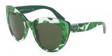 307771 PRINT BANANA'S LEAFS ON GREEN/grey green