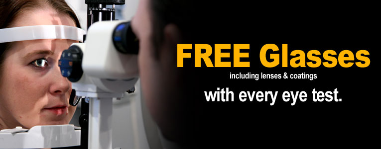 free glasses with every eye test
